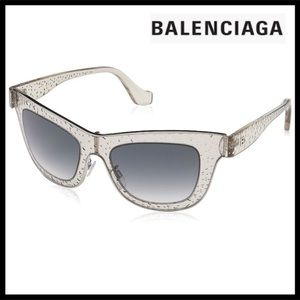 BALENCIAGA BUBBLE SHINY LIGHT BROWN SUNGLASSES